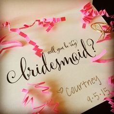 A proposal from the proposed. @ccthompson23 I accept!  #isaidyes #bridesmaid
