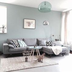 Having small living room can be one of all your problem about decoration home. To solve that, you will create the illusion of a larger space and painting your small living room with bright colors c… Living Room Interior, Home Living Room, Apartment Living, Apartment Kitchen, Living Room Lamps, Dining Rooms, Living Area, Interior Livingroom, Living Room Lighting