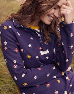 Pip print CREAM FLORAL Casual Half Zip Sweatshirt | Joules UK Joules Uk, Isle Of Man, Show Photos, Inverness, Sweatshirts, Friend 2, Casual, Pullover, Ditsy