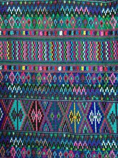 A beautiful textile from Guatemala, an amazing palette of colors. #Teysha #Guatemala #Guateboots