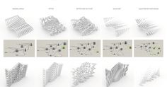 Exploring in Grasshopper to make different surfaces as we would with the paneling tools on Rhino was interesting. It's fun exper... Origami Grasshopper, Grasshopper Rhino, Parametrisches Design, Tile Design, Urban Design, House Design, Impression 3d, Architecture Paramétrique, Architecture Diagrams