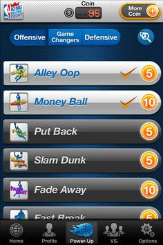 Use offensive Power Ups to increase your scoring abilities. Or use your defensive Power Ups on your courts to make it more difficult for opposing players to conquer!