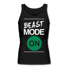 """When I was in high school, I was walking off the track after some fierce repeats (800s? I don't remember).  As I walked past a bunch of sprinters about to do a workout, one of them said, """"that girl is a BEAST.""""  I walked a little taller after that.  I want this tank."""