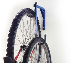 2 Bike Bicycle Wall Mounted Hanging Rack Space Saving by JarpenArt