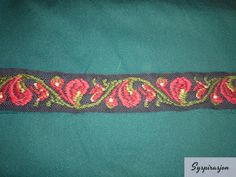 folk art inspired woolen band with embroidery