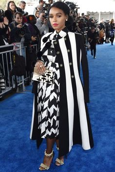 Janelle Monae in Salvatore Ferragamo for the Indie spirt Awards Black Girl Fashion, White Fashion, Curvy Fashion, Look Fashion, Urban Fashion, Teen Fashion, Fashion Clothes, Fashion Outfits, Beautiful Outfits