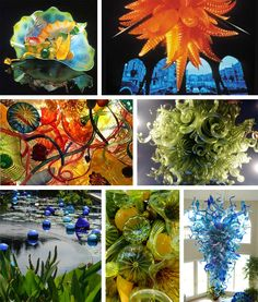 Dale Chihuly is an American glass sculptor who was born in 1941 in Tacoma, Washington. He was introduced to glass while studying interior d. Vases, Joan Miro Paintings, Dale Chihuly, Middle School Art, Teaching Art, Teaching Ideas, Stained Glass Art, Pics Art, Pottery Art