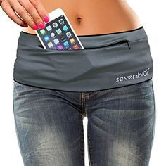 SevenBlu HIP  Fashion Money Belt  Extra Pocket  Running Belt  Worlds Best Stylish Travel Wallet or Mini Purse  with ZIPper  Fits iPhone 6 Plus  Your Smartphone Pocket Gray XS *** More info could be found at the image url.