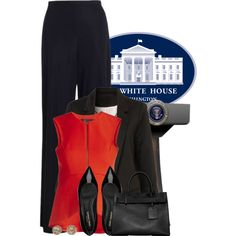 The White House Press Secretary by fortheloveofpoly on Polyvore featuring BCBGMAXAZRIA, Zimmermann, Yves Saint Laurent, Reed Krakoff, EF Collection, BCBGmaxazria and saintlaurent