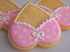 clever! Use a heart cookie cutter and make bra cookies like these for your next Pink Ribbon event