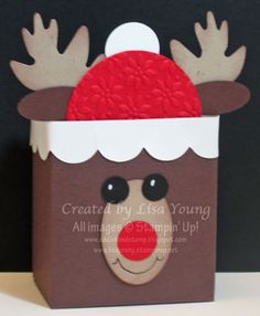 Stampin' Up!  Fancy Favor Box  Lisa Young  Christmas