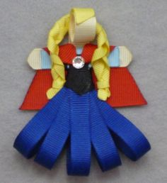 Frozen's Princess Anna Ribbon Sculpture Clip by l1lb1tofevery, $5.00