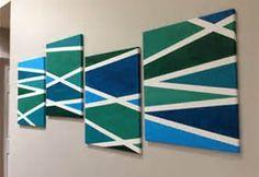 geometric set - brown/beige main blocks, one pop color of green hues
