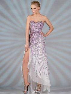 Sequin Pattern Prom Dress. Style #: JC9001. Available in ivory and peach. Get yours today at www.SungBoutiqueLA.com