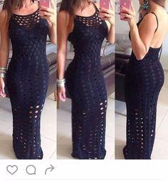 Vestido Longo Sereia Rendado Em Crocher - R$ 89,99 em Mercado Livre