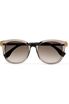 Fendi D-frame acetate and metal sunglasses | THE OUTNET