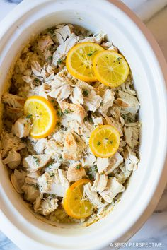 A must-make this season: Bistro Slow Cooker Chicken and Rice on ASpicyPerspective.com