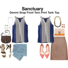 Kau/Christine...I want that top!!!  Sanctuary Demmi Snap Front Twin Print TAnk Top