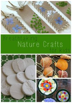 These nature crafts for kids are gorgeous! Beautiful process art for preschoolers and bigger kids too.
