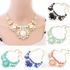 Womens Fashion Crystal Irregular Short Necklace Mixed Bubble Bib Pendant B52U #eroute66US #Choker