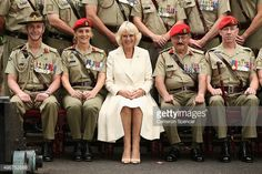 Camilla Duchess of Cornwall appointed as the ColonelInChief of the Royal Australian Corps of the Military Police poses with members of the Royal...