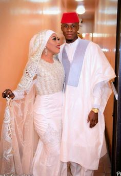 Nigerian Wedding Dress, Muslimah Wedding Dress, African Wedding Attire, Wedding Dresses, Traditional Wedding Attire, African Traditional Wedding, Muslim Wedding Ceremony, African Print Dress Designs, Bridal Hair Inspiration