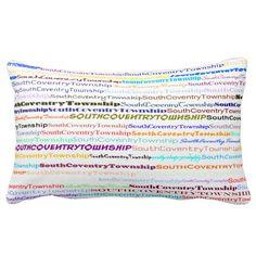 South Coventry Township Text Design II Lumbar Pillow