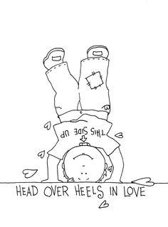 Free Dearie Dolls Digi Stamps: Head over heels in Love boy