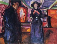 Image result for munch man and woman by a window