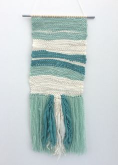 Image result for blue and green wall weaving