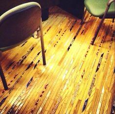 My future floors <3 hockey sticks and wood mixed