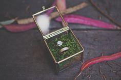 Clean, natural, and beautiful ring box. Palm Wedding, Big Sur Wedding, Botanical Wedding, Forest Wedding, Woodland Wedding, Boho Wedding, Dream Wedding, Wedding Mood Board, Wedding Ring Box