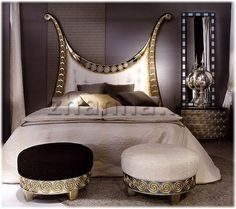 Composition ELLEDUE Comp 19 Royal Bedroom, Dream Bedroom, Bedroom Wall, Bedroom Decor, Bed Back Design, Bed Design, Luxury Furniture, Bedroom Furniture, Furniture Design
