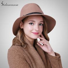 Australia Wool Felt Hat England women Fedora Hat wide brim hats for elegant lady hat Christmas GIfts Who like it ? #shop #beauty #Woman's fashion #Products #Hat