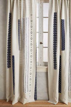 Spliced Shibori Curtain - anthropologie.com #anthroregistry