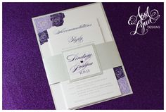 ALH Designs Rose Themed Floral Pink Diecut Wedding Invitation Alhdesigns Roses