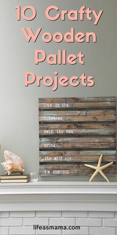 Free wood is perfect for making awesome DIY projects for your home. Here are our favorite 10 wooden pallet projects that you can make to create something unique and interesting for your home.