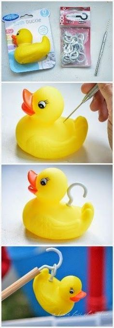 Pick a Duck game - what a great idea for a kid's birthday party, especially for a circus or carnival theme! Click through for more cute circ...