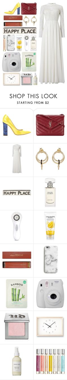 """""""6.304"""" by katrinattack ❤ liked on Polyvore featuring Pollini, Yves Saint Laurent, Phase Eight, Foundrae, Primitives By Kathy, Ralph Lauren, Clarisonic, Forever 21, Sloane Stationery and Harper & Blake"""