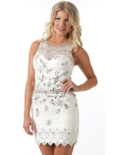 High Neck White Lace and Satin Cocktail Gown of Diamantes at Front on Sale White Lace Cocktail Dress, White Sequin Dress, Sequin Cocktail Dress, Cocktail Gowns, Short Cocktail Dress, Lace Dress, Cocktail Dresses Online, Plus Size Cocktail Dresses, Evening Dresses Online