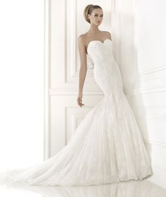Pronovias Wedding Dresses Pre-2015 Collection Part III. To see more: http://www.modwedding.com/2014/06/12/pronovias-wedding-dresses-2015-part-3/ #wedding #weddings