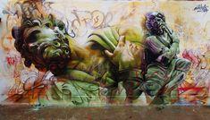 One more, RAD. artists: Pichi and Avo locations: Valencia, Athens, Almeria, Spain @Arts for LA #streetart #artforart BAM