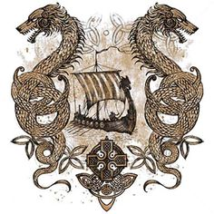 viking dragon | ... > Products > Nordic Sailing Dragons Viking Ship Celtic…