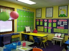 neat classroom set up