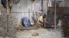The artisans of Croix des Bouquets are magicians. They turn recycled oil drums into intricate fantasies of texture and pattern -- sometimes decorative, sometimes infused with vodou, Haiti's rich, syncretic spiritual tradition. HAND/EYE Fund's video shows beauty of what in this Haitian cultural capital, just outside Port au Prince.