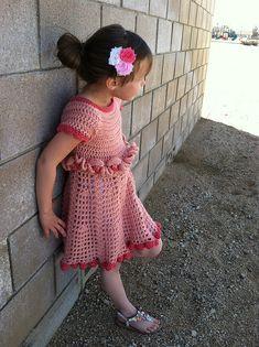 Petal Ruffle Dress - Roundup of 12 Gorgeous and FREE Crochet Dress Patterns for Girls!