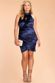 145f5ac1d92b  lt 3 VELVET PLUS SIZE DRESS FROM AGACI Plus Dresses