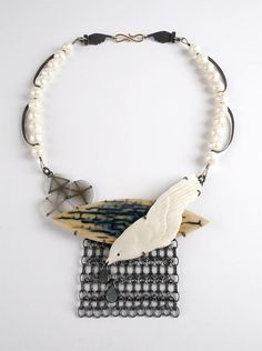 Zoe Arnold, Falling Rain Necklace, Diving for Pearls - The Scottish Gallery, Edinburgh - Contemporary Art Since 1842
