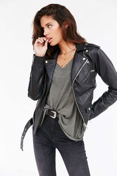 Rock 'n' Roll Style ✯ UO I need a leather jacket