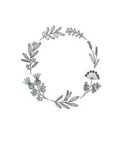 Pin by al or nothing on inkling wreath drawing, wreath tatto Wreath Tattoo, I Tattoo, Kranz Tattoo, Embroidery Patterns, Hand Embroidery, Handpoked Tattoo, Botanical Line Drawing, Bordado Floral, Illustration Blume